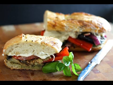 Sandwich Recipe: Grilled Vegetable Panini by CookingForBimbos.com
