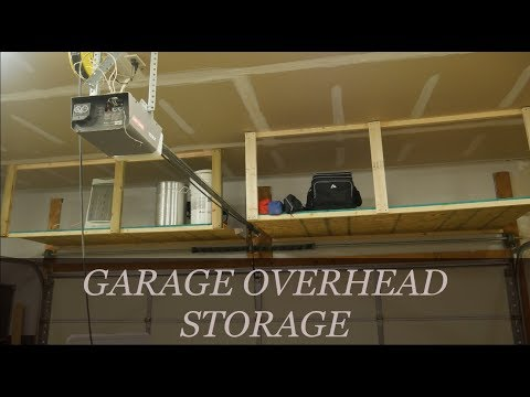 Easy DIY Overhead Garage Storage Rack