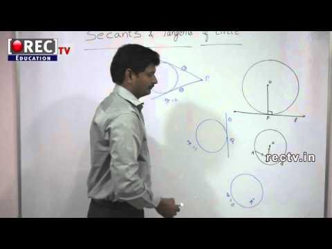 SECANT AND TANGENTS OF CIRCLE -10 TH MATHS TUTORIAL-SSC/ICSE/CBSE CLASSES -  FORMULAS