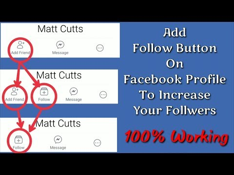 Add Follow Button And Hide Add Friend Button On Facebook Profile #100% Working