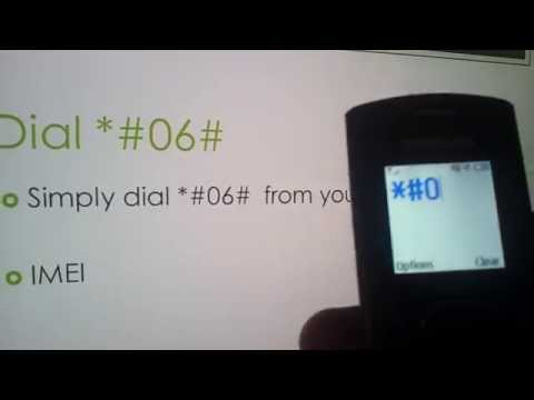 Check IMEI Number in any phones - dial *#06#