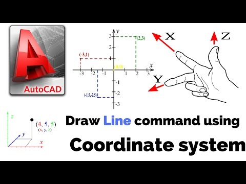 AUTOCAD HINDI TUTORIAL:COORDINATE SYSTEM USING LINE