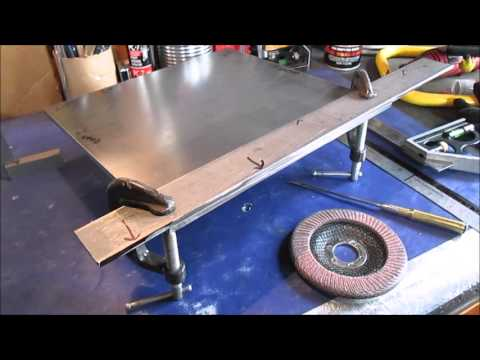 How To ....Square edges on a piece of plate steel