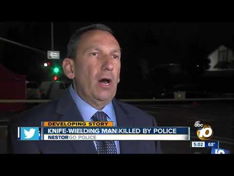 Knife-wielding man killed by police