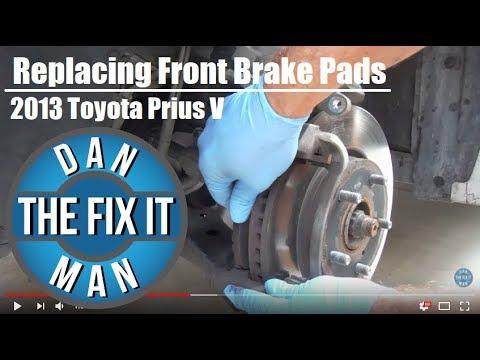 2013 Toyota Prius V - Replacing Front Brake Pads - Easy - DIY