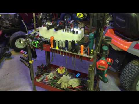 Poor boy tool cart modifications - free upgrade for more organized and clean tool cart.
