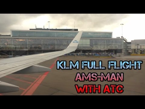 KLM Full Flight Video Amsterdam to Manchester