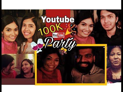 Youtube 100k Party Vlog | Ishita Chanda