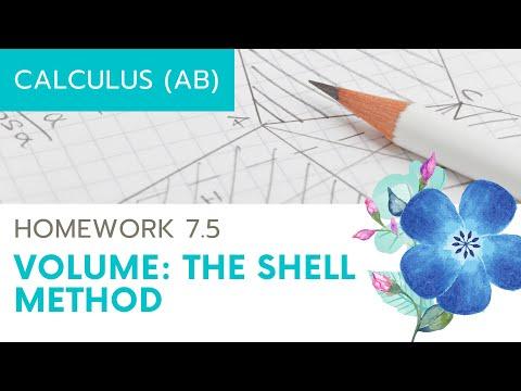 Calculus AB Homework 7.5 Shell Method