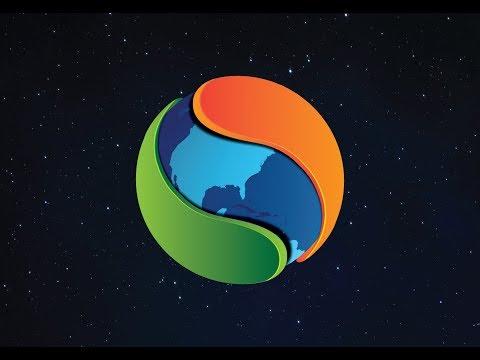 How to make Global Map Circle 3D Logo Design Adobe illustrator CS6