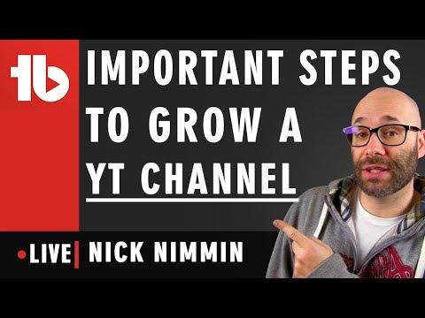 🔴 Important steps for YouTube Channel Growth - Hosted by Nick Nimmin