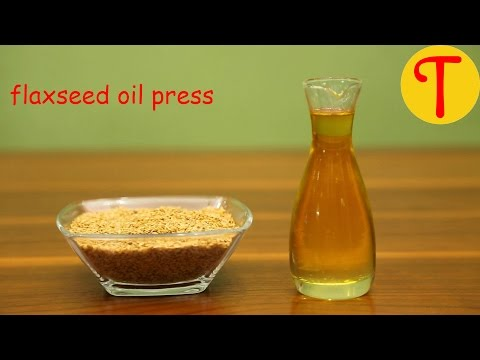 Flaxseed / Linseed Oil Press - Make Flaxseed Oil At Home - Tenguard Oil Press