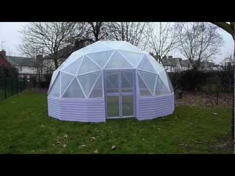 22ft low profile geodesic dome build