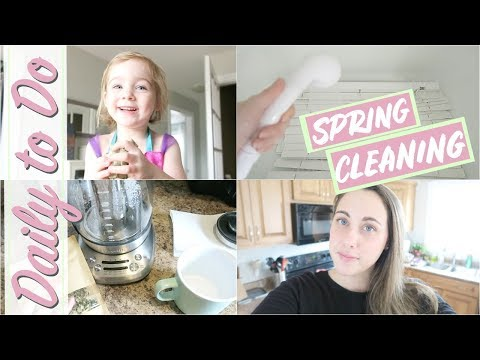 Daily to Do   More Spring Cleaning! Blinds, floors and laundry!