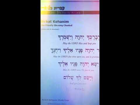 MOST POWERFUL PRAYER: THE BIRKAT KOHANIM/NUMBERS 6:24-27