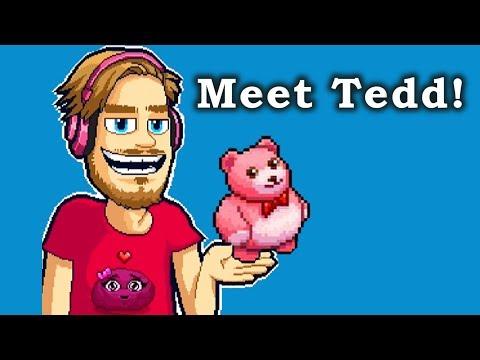 Pewdiepie's Tuber Simulator - Meet Tedd the Teddy Bear Pixeling! (Valentine's Day Pixeling!)