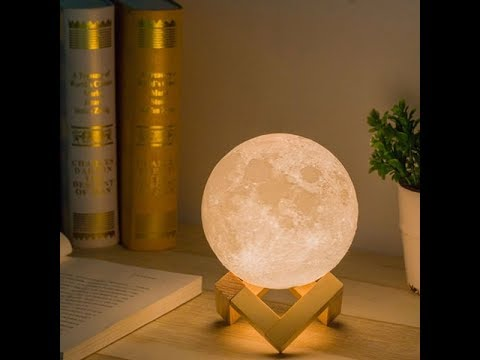 Aliexpress Unboxing Moon Light 3D Printed Review | Helloitskovo
