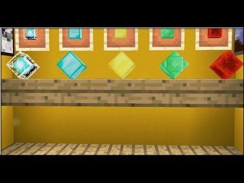 How to Make Awesome Display Shelf In Minecraft Pocket Edition 1.2 No Mods   Armor Stand Trick