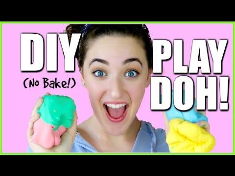DIY PLAY-DOH USING ONLY 2 INGREDIENTS - CORNSTARCH + CONDITIONER (No Bake)