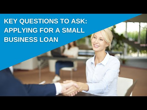 Consider these key questions before applying for a small business loan