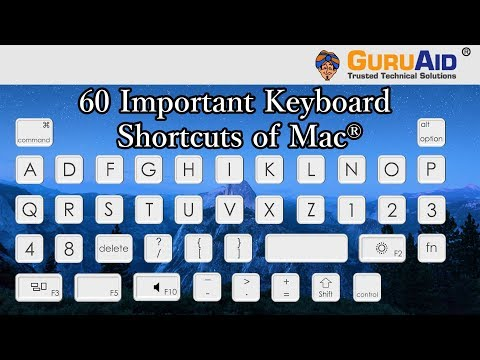 60 Important Keyboard Shortcuts of Mac® OS X™ - GuruAid
