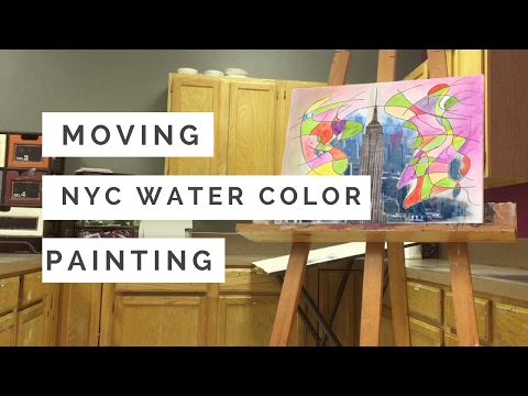 MOVING NEW YORK CITY WATER COLOR PAINTING - art two project