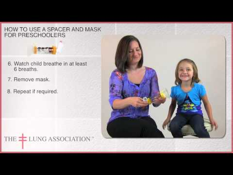 How to use a Metered Dose Inhaler / puffer with spacer and mask with a preschooler