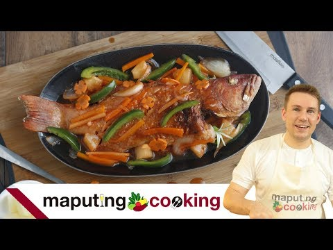 Escabecheng Lapu Lapu Recipe (Filipino Sweet and Sour Fried Fish) | Chris Urbano
