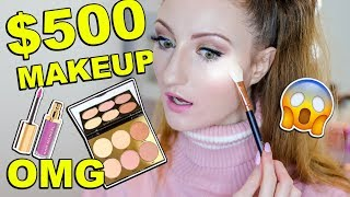 $500 MAKEUP COLLECTION TESTED!! First Impressions + Smokey Eye Tutorial | HUGE GIVEAWAY! Sam Marcel