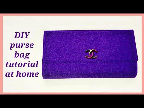 DIY clutch purse how to make clutch purse tutorial at home {Asnie ❤