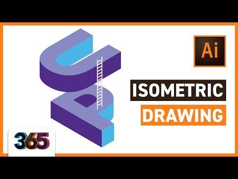 📐 Isometric Drawing | Illustrator CC Tutorial #117/365