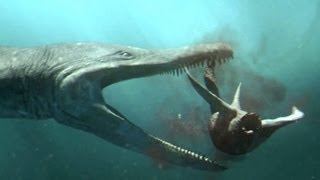 Predator X hunts in deep water | Planet Dinosaur | BBC