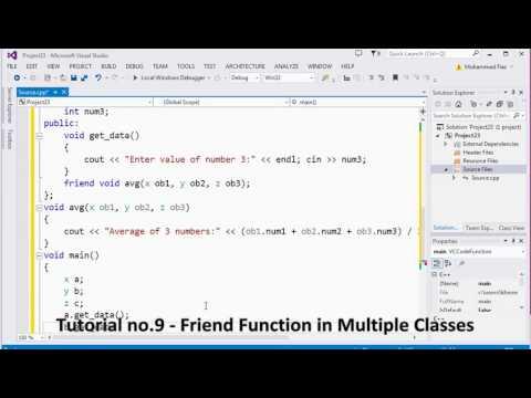 Tutorial no 9   Friend Function in Multiple Classes By Khezer Mustafa
