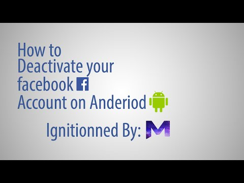 How to Deactivate Facebook Account on Android