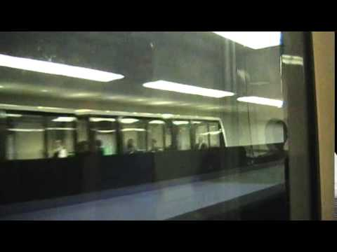 Riding the Inter-Terminal Train from the Marriott to Terminal D & E at Houston Bush IAH Airport