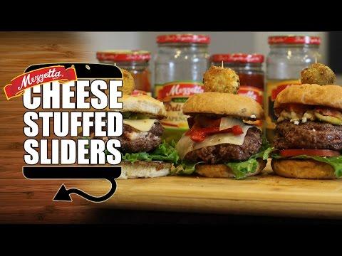 Cheese Stuffed Burger Sliders Done Three Ways