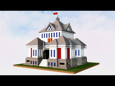 Minecraft - How to build a large modern house