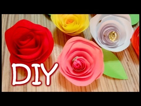 Twisted Paper Rose - How to Make an Easy Rose Out Of Paper