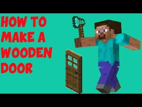 Minecraft : How to make a wooden door