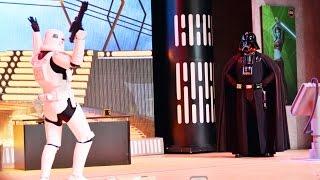 Star Wars Weekends Stormtrooper Skit 2015 Before Stars of the Saga w/Darth Vader, Carbonite