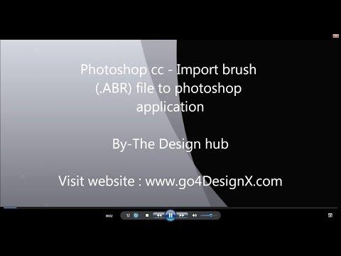 Photoshop tutorial-Load brush to photoshop