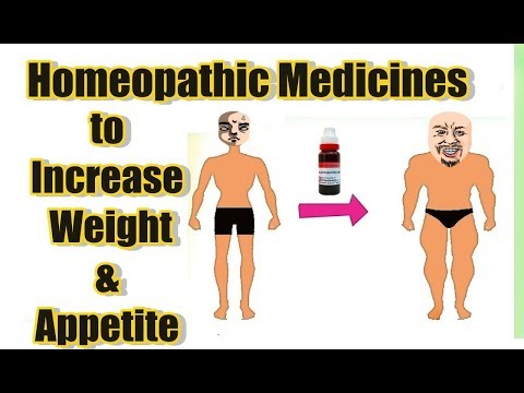 Homeopathic Medicines to Increase Weight and Anorexia