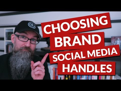 Brand social media handles and using namecheckr.com to find if your brand name is available.
