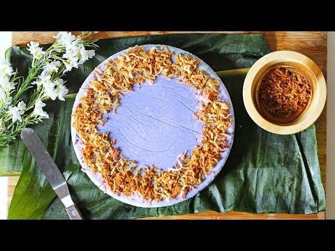 PURPLE YAM CAKE!!  (FILIPINO - UBE HALAYA!!) | VEGAN
