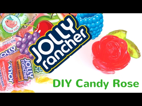 DIY Jolly Rancher Candy Roses - Making Hard Candy Roses!