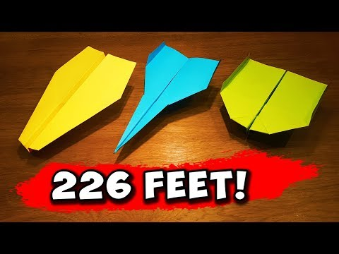 How to make a paper airplane fly farther step by step -