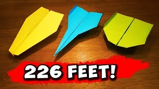 Download How To Make 5 EASY Paper Airplanes that FLY FAR Video