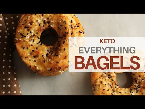 **KETO** Everything Bagels   EPIC TEXTURE   6 NET CARBS PER BAGEL!