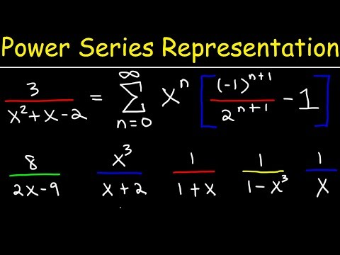 Power Series - Representation of Functions - Calculus 2
