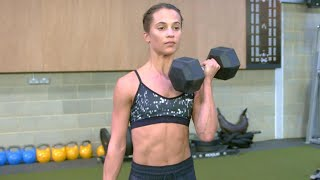 How Alicia Vikander Put on 12 Lbs. of Muscle to Play Lara Croft in